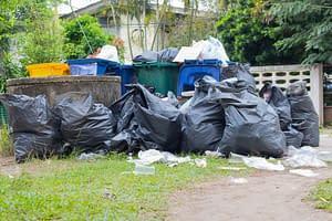 pile of garbage bags